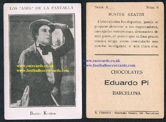 1920s Pi Buster Keaton Spanish trade card